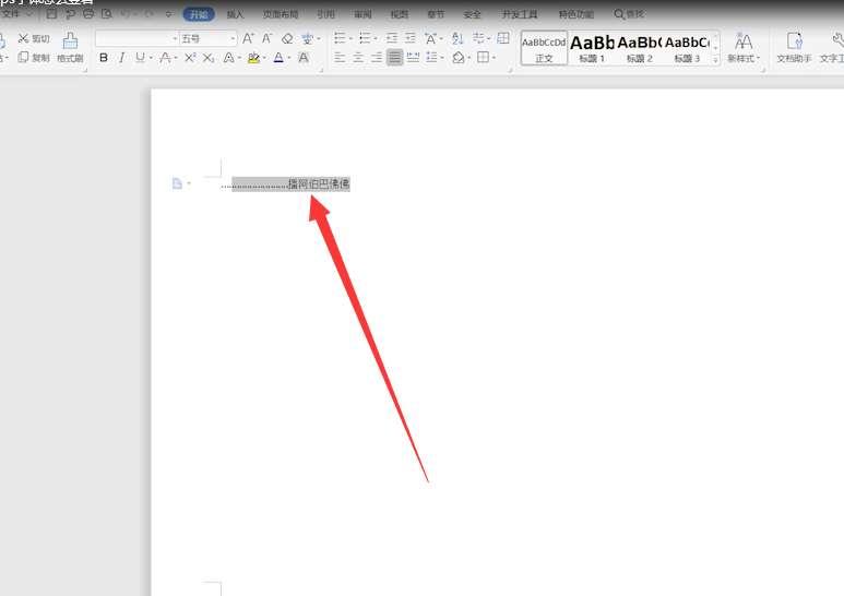 WPS字体怎么竖着第1步