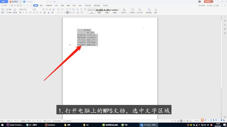 wps怎么调字体大小
