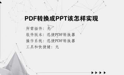 PDF转换成PPT该怎样实现