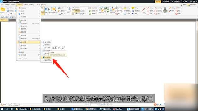 如何设置PDF全屏动画第2步