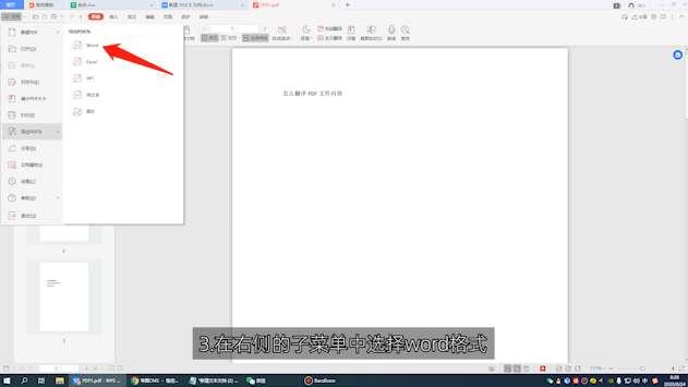 在线pdf怎么转换成word第3步