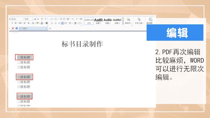 pdf和word的区别第2步