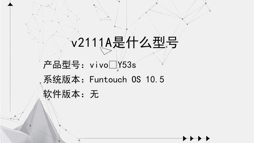 v2111A是什么型号